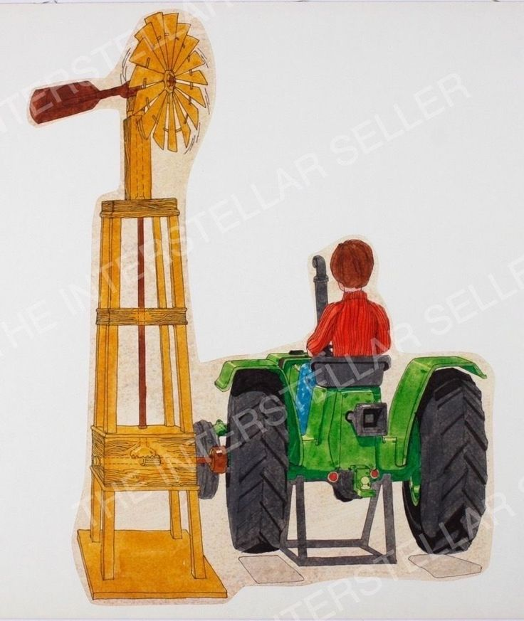 Rare! ORIGINAL 1970's SUNSHINE FAMILY FARM TRACTOR CONCEPT ART! Vintage Dolls 2