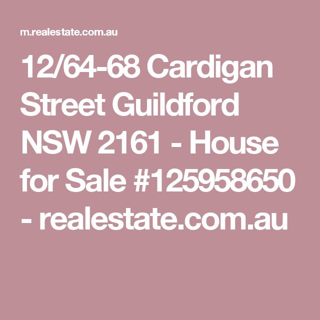 12/64-68 Cardigan Street Guildford NSW 2161 - House for Sale #125958650 - realestate.com.au