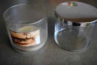 Organizing My Life: Reclaiming Candle Jars! - Check out my new blog entry about cleaning out candle jars and reusing them!