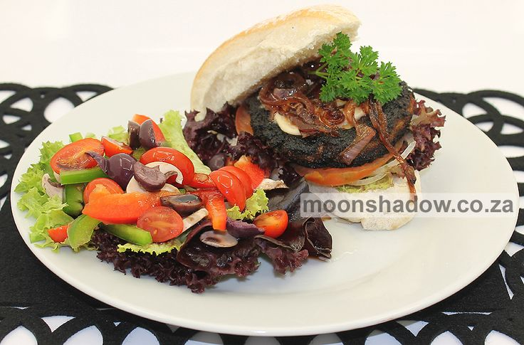 Moonshadow's Coffee Shop in #Swellendam now offers a scrumptious 100% PLANT-BASED #vegan burger! The patties are freshly made from scratch (no scary processed ingredients), and are bursting with flavour.