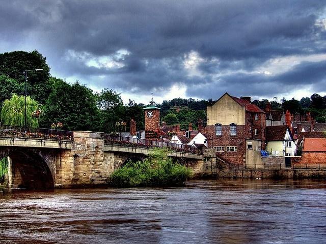 River Severn at Bridgnorth in Shropshire England