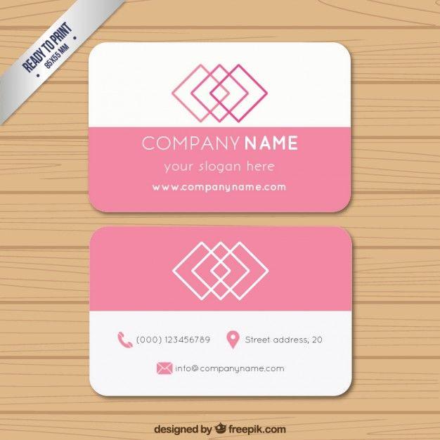 Pink business card yelomdiffusion pin business card free vector mary kay pinterest business wajeb Choice Image