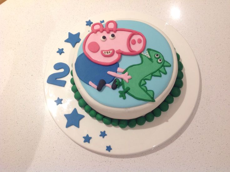 George pig cake for my little mans 2nd Birthday