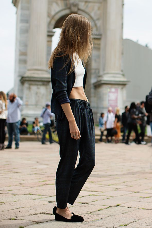 The Sartorialist Crop Top Style Fashion Streetstyle