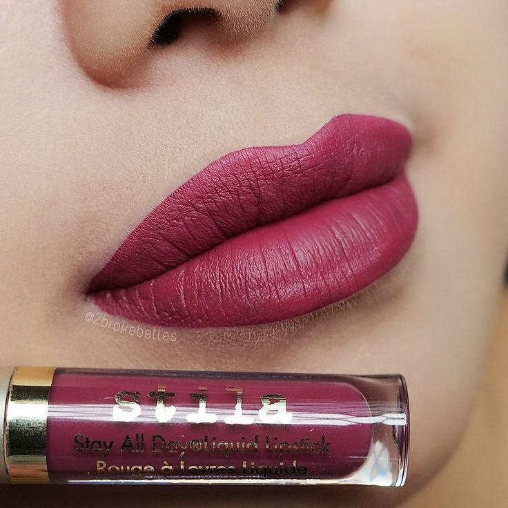 """Now for my favourite shade in the Stila Eternally Yours liquid lipstick set, Aria  #toobrokenadia"""