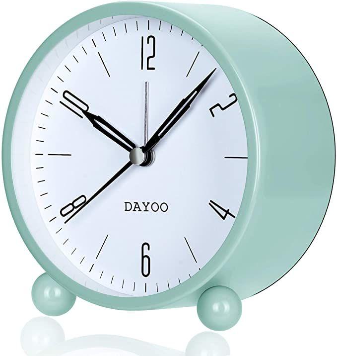 AmazonSmile: DAYOO Alarm Clock, 4 Inch Round Alarm Clock ...