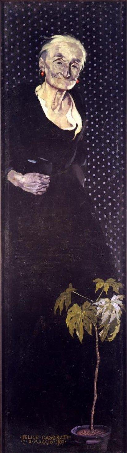 Vecchia signorina (Vecchia) (Vecchia signora) by Felice Casorati (Italian 1883-1963)