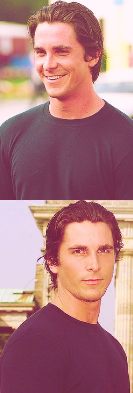 Christian Bale....smile and the world smiles with you