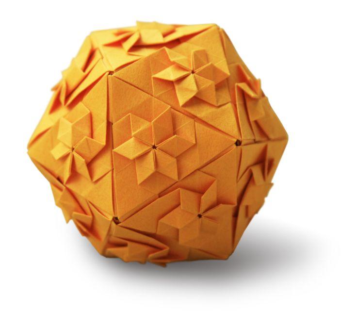 flowery icosahedron kusudama