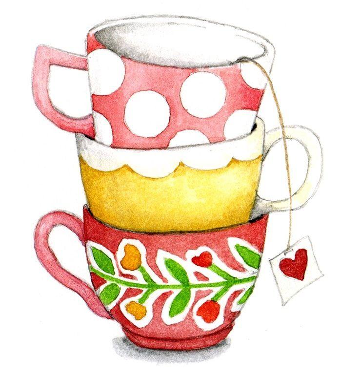 Tazas de te dibujos pinterest taza de t pinturas y for Tazas de te inglesas