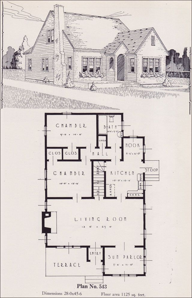 Design No 543 1926 Portland Homes Plan Book By Universal