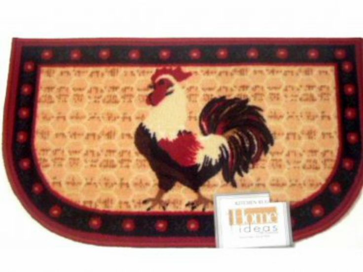 Red Rooster Themed Kitchen Rug Slice Mat Give Your Kitchen That Down Home  Feeling With This