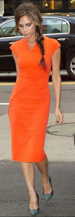 Dress - Victoria Beckham Shoes - Proenza cheaper style dress Aqua Magdaline Asymmetric Pencil Dress Proenza schouler Colorblock Cap Toe Pumps