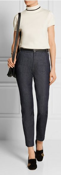 """VANESSA SEWARD Victoire high-rise slim-leg jeans - """"crafted from premium Japanese denim. This slim-leg style is cut for a high-rise fit that emphasizes the smallest part of your frame."""
