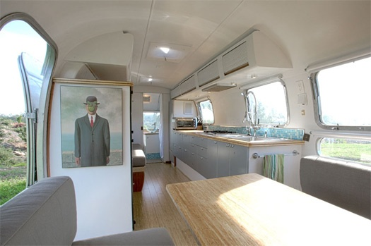 airstream trailer dining room- complete renovation