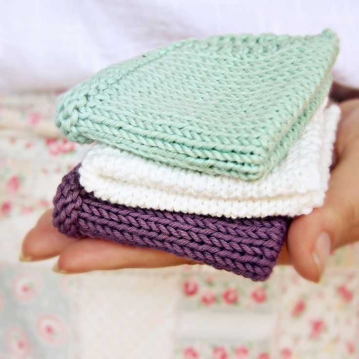 29 Best Dishcloth And Washcloth Knitting Patterns Images On