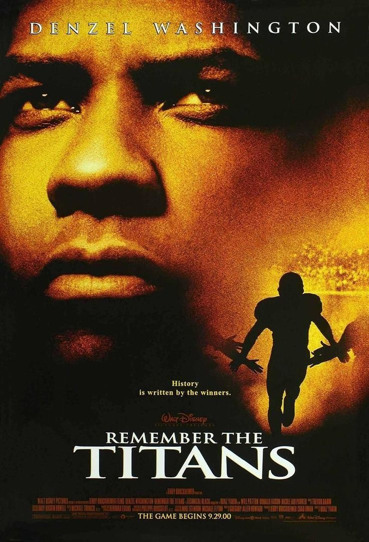 Personally, I think the best football movie ever made is Disney's 2000 release REMEMBER THE TITANS. Also at #2 is the Sherwood Pictures theatrical debut film from 2006 FACING THE GIANTS is also a great movie along with #3 WE ARE MARSHALL and #4 the football classic about Notre Dame