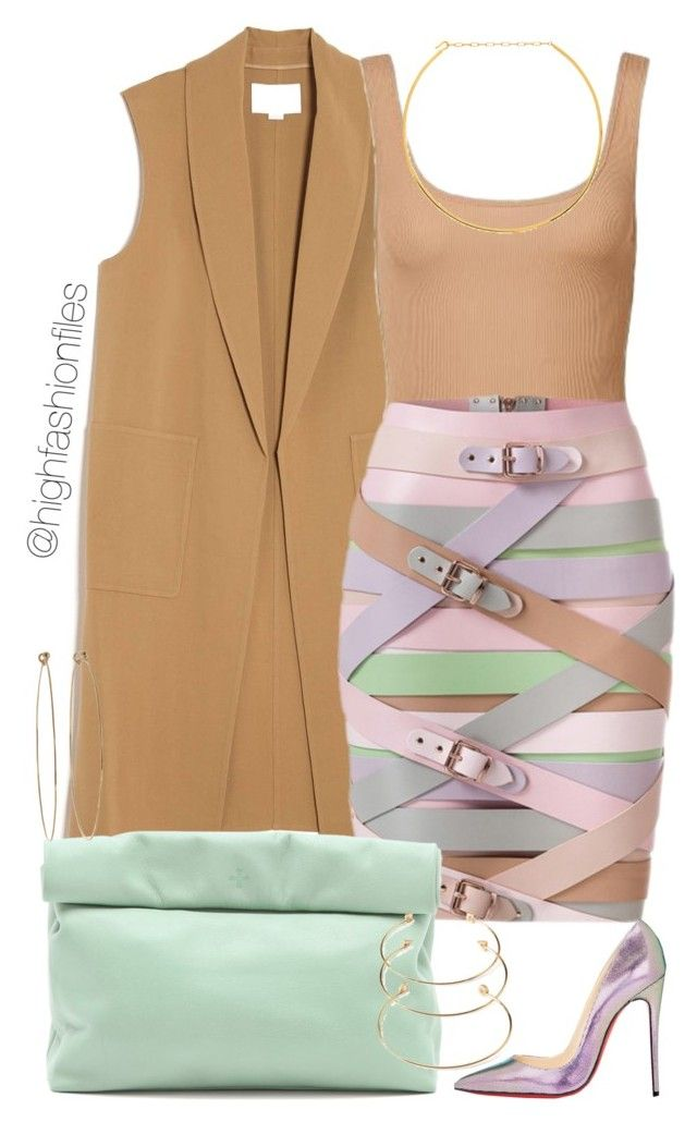 """Pastels"" by highfashionfiles ❤ liked on Polyvore featuring Alexander Wang, Oscar de la Renta, Christian Louboutin, Marie Turnor, Forever 21, Dean Harris and Jennifer Zeuner"