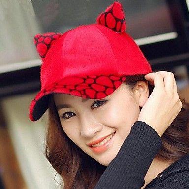 vrouwen winter mode luipaard pluche baseball cap – EUR € 8.99