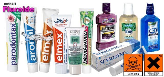 Zahnpasta – Zerstörung und Vergiftung aufRaten  Zahnärzte raten seit jeher, dass man sich mindestens zwei Mal am Tag die Zähne putzen soll.  Das muss einen nicht wundern, denn dazu empfohlen wird Zahnpasta. In fast allen Zahnpasten befindet sich nämlich Fluorid, welches die Zähne massiv angreift und den Zahnschmelz langsam aber sicher zerstört.