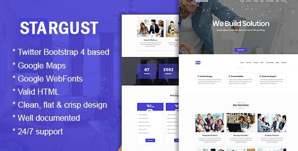 One Page Html Bootstrap 4 Template Nulled Free Download Produtividade