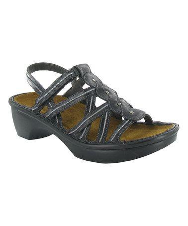 Black Madras Mumbai Cosmopolitan Leather Sandal #zulily #zulilyfinds