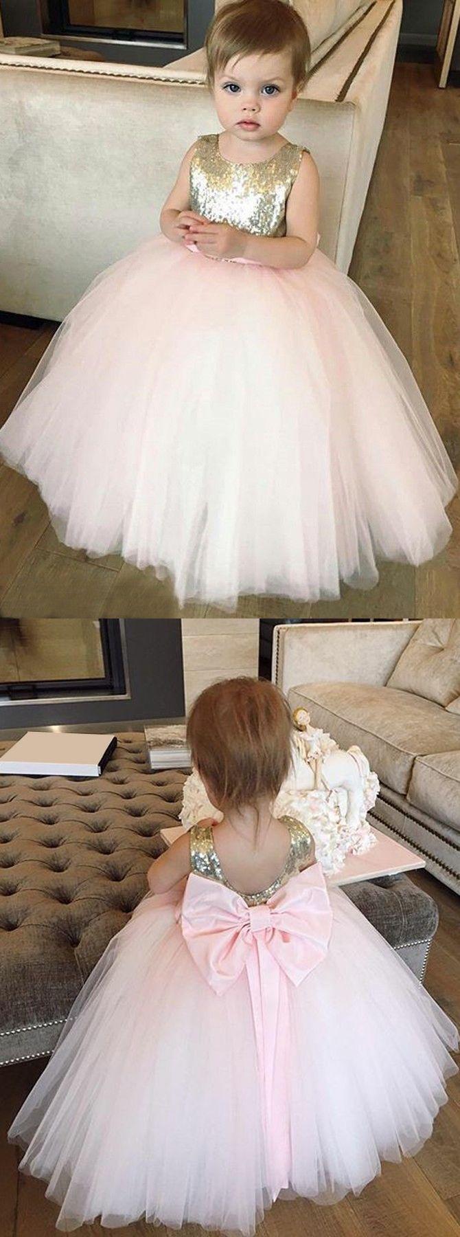 ball gown flower girl dresses,cute flower girl dress,pink flower girl dresses,bowknot flower gir dress