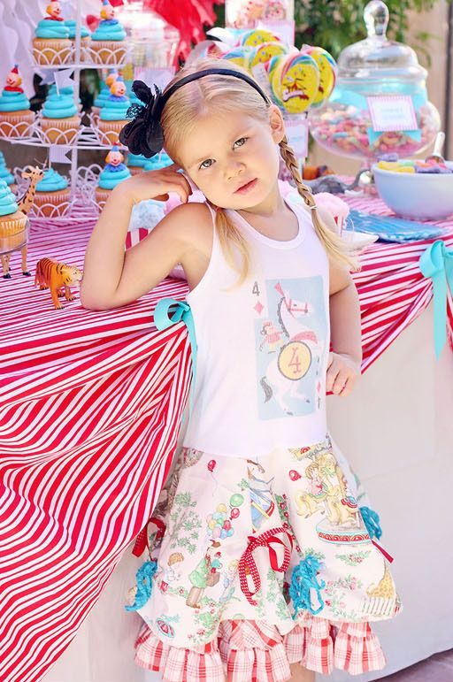 Tutorial: Not only do you get the instructions for this adorable party dress, you can also check out the matching DIY circus-themed birthday party tutorial.