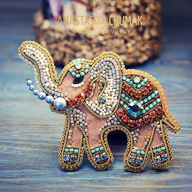 Символ мудрости, достоинства, непобедимой мощи иблагоразумия!  Брошь Индийский Слон В Наличии!  #anastasiyachumak #accessories #jewelry #womenaccessories #броширучнойработы #брошь #вышивкабисером #авторскиеаксессуары #авторскиеукрашения #ручнаяработа #женскиерадости #женскиештучки #подарок