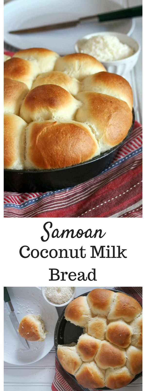 These Coconut Bread are sweet buns baked in glorious coconut milk and turn out as tasty, delicate and moist. You are going to pull out a piece one after another. #coconutbread #milkbread