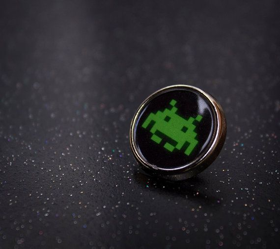 Cool Space Invader Lapel/Tie Pin Badge by UnofficiallyOriginal