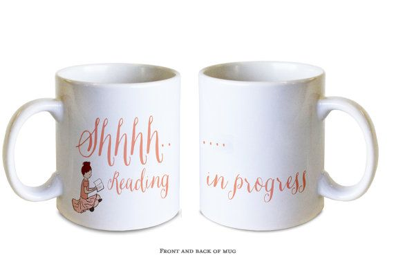 Shhh...reading in progress mug