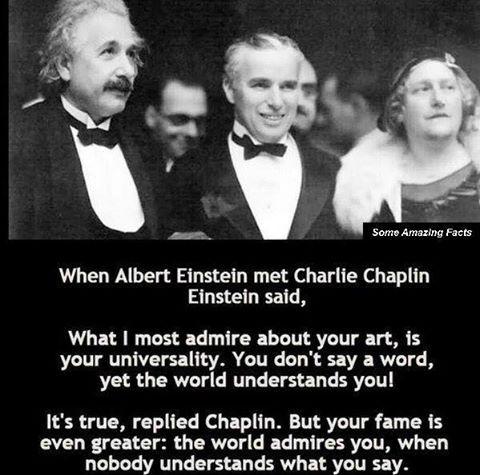 Albert Einstein And Charlie Chaplin