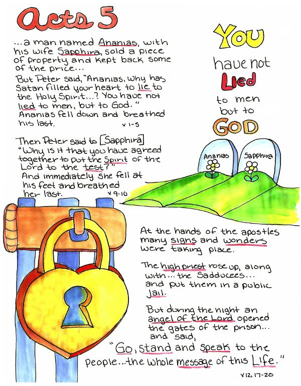 Doodle Through The Bible: Acts 5