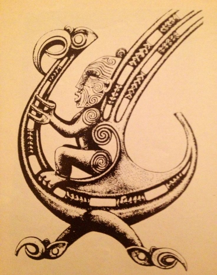 Maori God, in his flying magic bird !