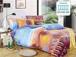 Quality Microfiber - Aubade Twin XL Comforter Set - College Ave Designer Series - Best Comforter For College
