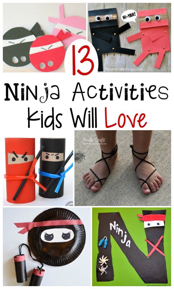 Ninja Crafts and Activities for Kids | a fun way to learn about ninjas together with your kids