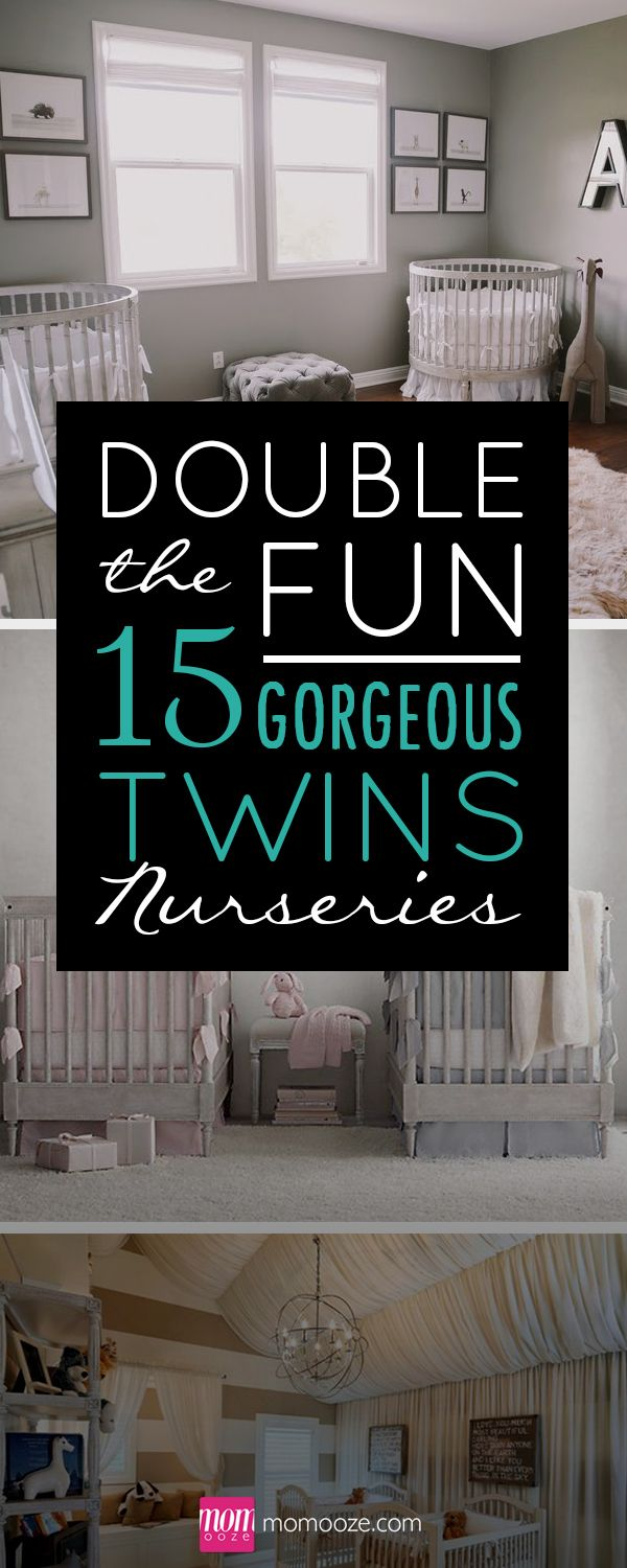 Twins are double the fun! Making their room can be, too! #twins #nursery https://www.momooze.com/double-fun-15-gorgeous-twin-nurseries/