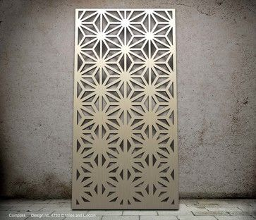 Compass design- laser cut screen modern-screens-and-room-dividers