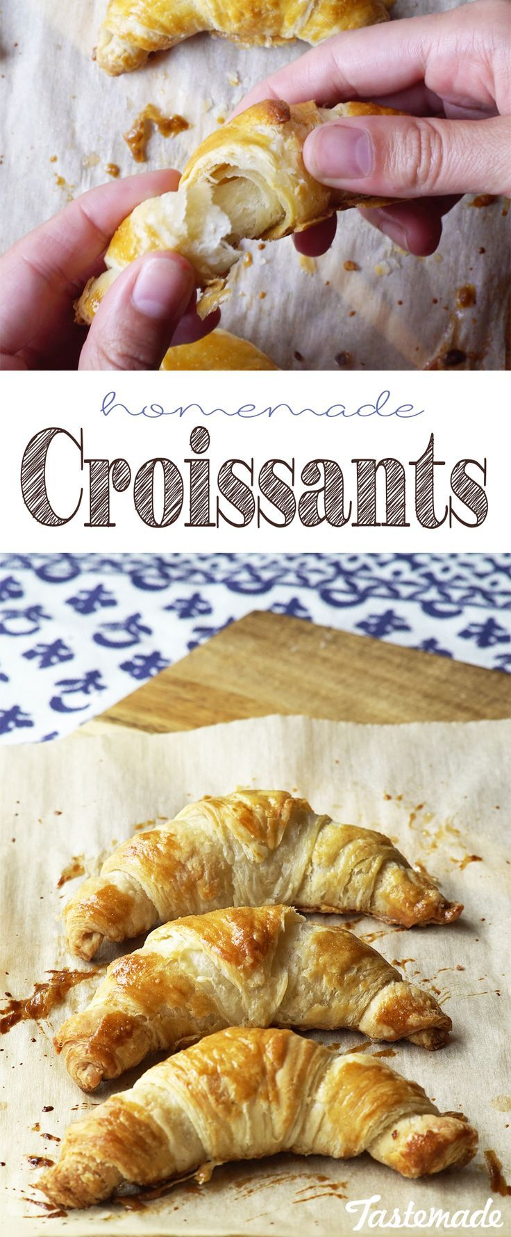 Patience may be a virtue, but so is the art of making traditional croissants. Save the recipe on our app! http://link.tastemade.com/HE7m/H1wHe4m2mA
