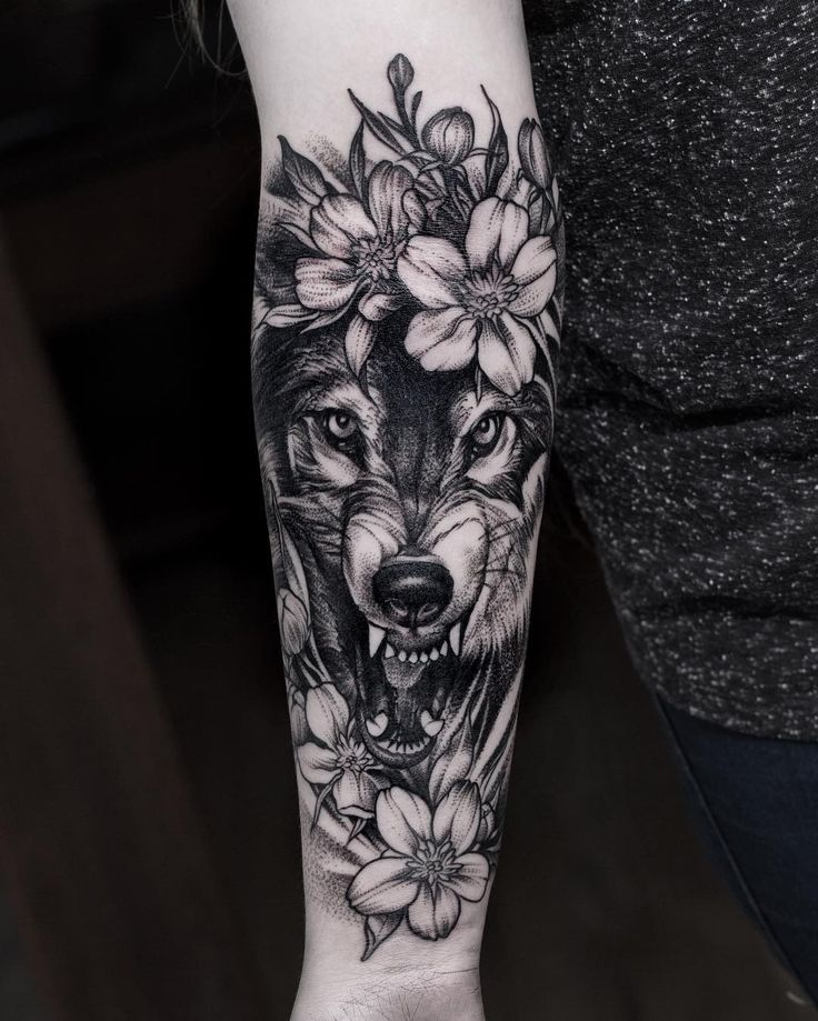 25+ Bästa Wolf Tattoo Sleeve Idéerna På Pinterest