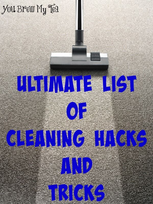 This ultimate list of cleaning hacks & tricks will help you keep your home spotless this year!