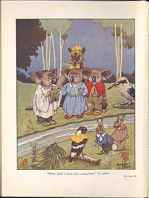 Colour illustration from Blinky Bill