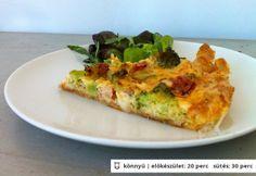 Sonkás-brokkolis quiche