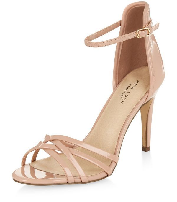 Nude Comfort Cross Strap Heeled Sandals  | New Look