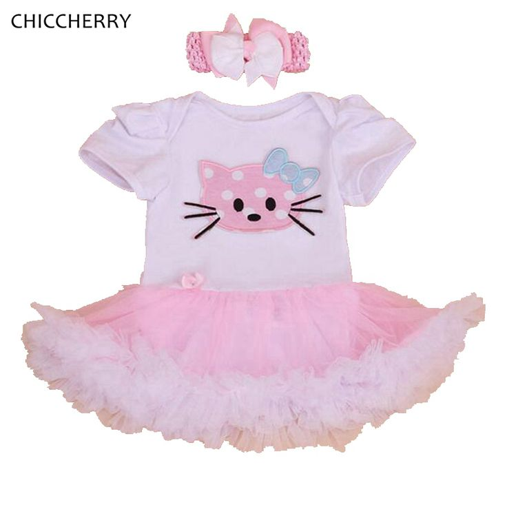 >> Click to Buy << Hello Kitty Lace Tutu Baby Girl Dress Headband Fantasia Vestido Bebe Ropa De Bebe Kids Party Clothes Newborn Infant Clothing #Affiliate