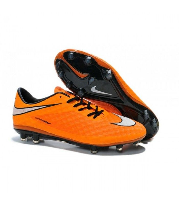 Acheter Chaussure de Football Nike Hypervenom Phantom FG ACC Orange Blanc pas cher en ligne 91,00€ sur http://cramponsdefootdiscount.com