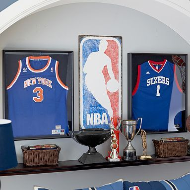 Nba Metal Sign Teenage Boy Bedrooms Basketball Room