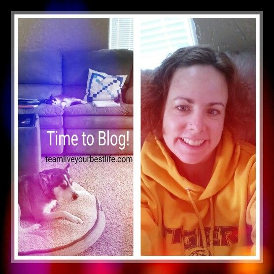 Getting ready to spend the day blogging! teamliveyourbestlife.com