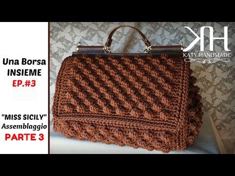 "TUTORIAL MINI BAULETTO ""Vintage"" in FETTUCCIA | Uncinetto/Crochet || Katy Handmade - YouTube"